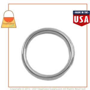 Representative Image of 1-1/4 Inch Cast O Ring, Nickel Finish