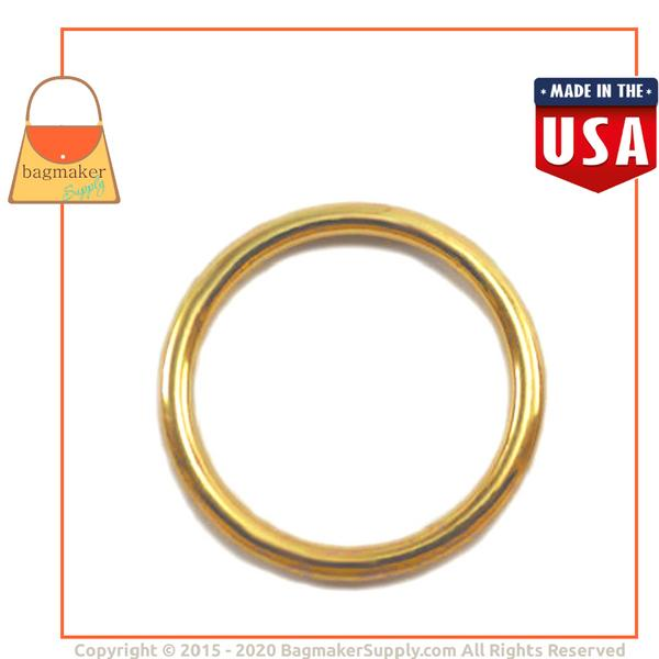 Representative Image of 1-1/4 Inch Cast O Ring, Brass Finish (RNG-AA130))