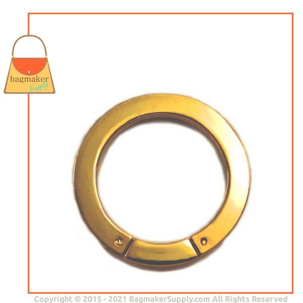 Representative Image of 1-3/8 Inch Flat Cast Screw Gate Ring, Gold Finish (RNG-AA131))