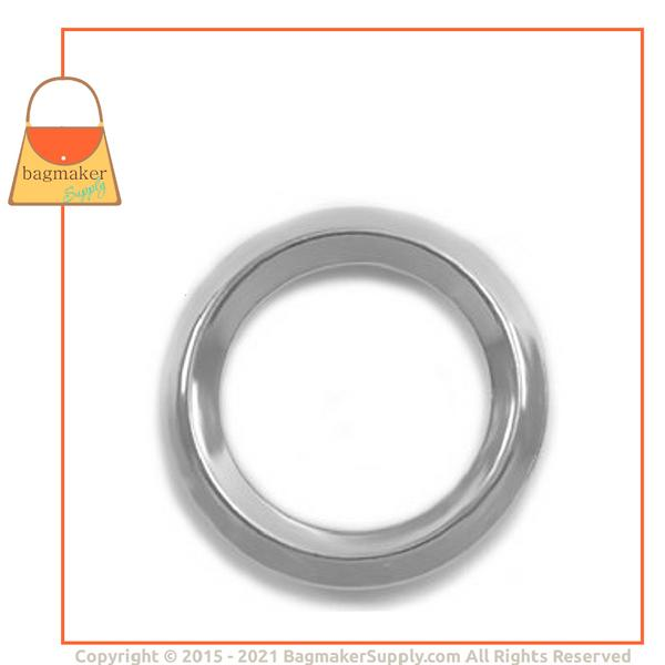 Representative Image of 3/4 Inch Beveled Edge Cast O Ring, Nickel Finish (RNG-AA134))