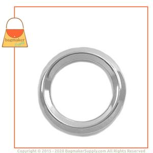 Representative Image of 1 Inch Beveled Edge Cast O Ring, Nickel Finish