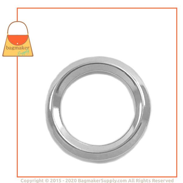 Representative Image of 1 Inch Beveled Edge Cast O Ring, Nickel Finish (RNG-AA135))