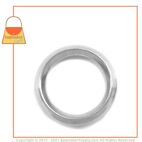 Representative Image of 1-1/4 Inch Beveled Edge Cast O Ring, Nickel Finish (RNG-AA136))