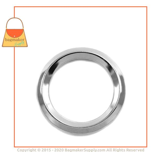 Representative Image of 1-1/2 Inch Beveled Edge Cast O Ring, Nickel Finish (RNG-AA137))