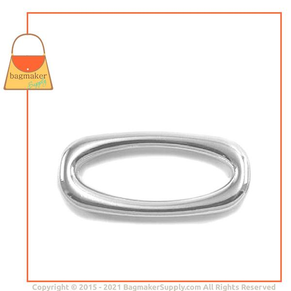 Representative Image of 1-1/2 Inch Cast Squared Oval Ring, Nickel Finish (RNG-AA140))