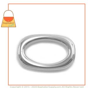 Representative Image of 1 Inch Cast Squared Oval Ring, Nickel Finish