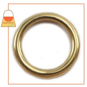 Representative Image of 1 Inch Cast O Ring, Solid Brass