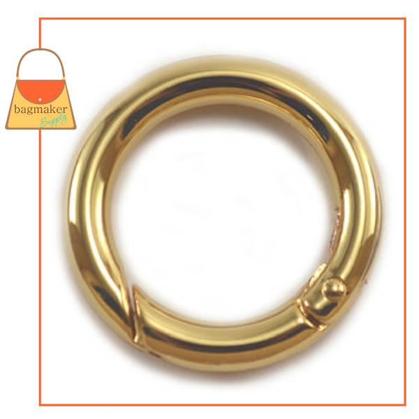 Representative Image of 1 Inch Cast Spring Gate Ring, Gold Finish (RNG-AA154))