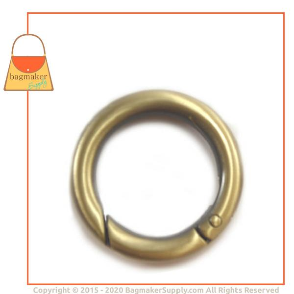 Representative Image of 1 Inch Cast Spring Gate Ring, Antique Brass Finish (RNG-AA155))