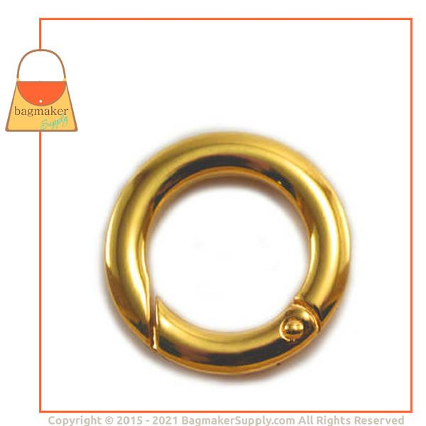 Representative Image of 3/4 Inch Cast Spring Gate Ring, Gold Finish (RNG-AA157))