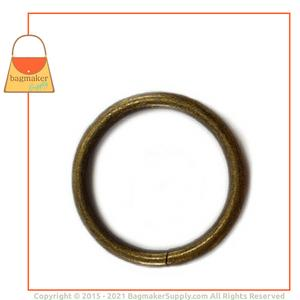 Representative Image of 1-1/4 Inch Wire Formed O Ring, Not Welded, Antique Brass Finish