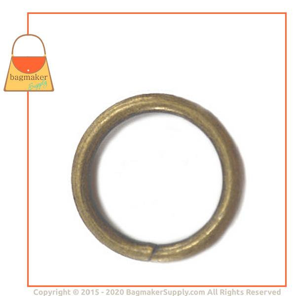 Representative Image of 3/4 Inch Wire Formed O Ring, Not Welded, Antique Brass Finish (RNG-AA170))