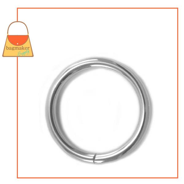 Representative Image of 1-1/2 Inch Wire Formed O Ring, Not Welded, Nickel Finish (RNG-AA171))