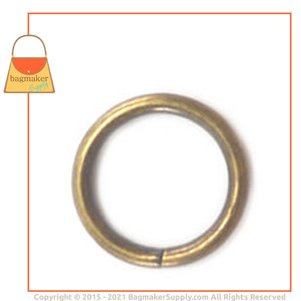 Representative Image of 5/8 Inch Wire Formed O Ring, Not Welded, Antique Brass Finish (RNG-AA173))