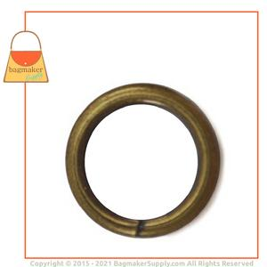 Representative Image of 1/2 Inch Wire Formed O Ring, Not Welded, Antique Brass Finish