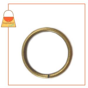 Representative Image of 2 Inch Wire Formed O Ring, Not Welded, Antique Brass Finish