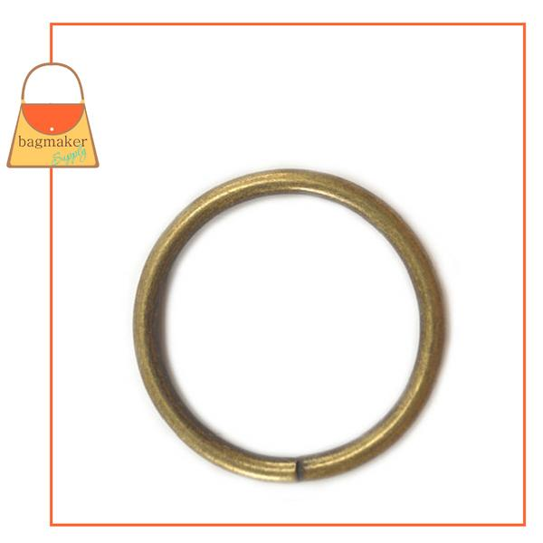 Representative Image of 2 Inch Wire Formed O Ring, 5 mm Gauge, Not Welded, Antique Brass Finish (RNG-AA176))