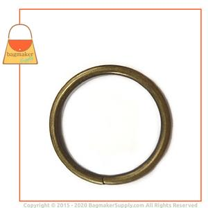Representative Image of 1-1/2 Inch Wire Formed O Ring, Not Welded, Antique Brass Finish
