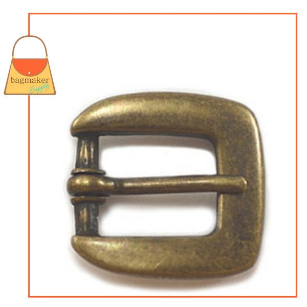 Representative Image of 1/2 Inch Square Buckle, Antique Brass Finish (BKL-AA012))