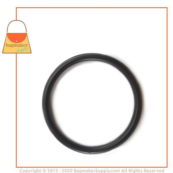 Representative Image of 3 Inch Wire Formed O Ring, 7 mm Gauge, Welded, Black Satin Finish (RNG-AA179))