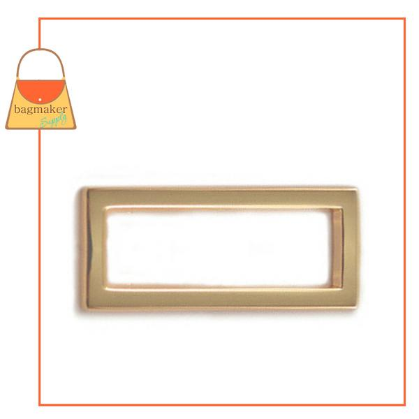 Representative Image of 1-1/2 Inch Flat Cast Convex Rectangle Ring, Gold Finish (RNG-AA183))
