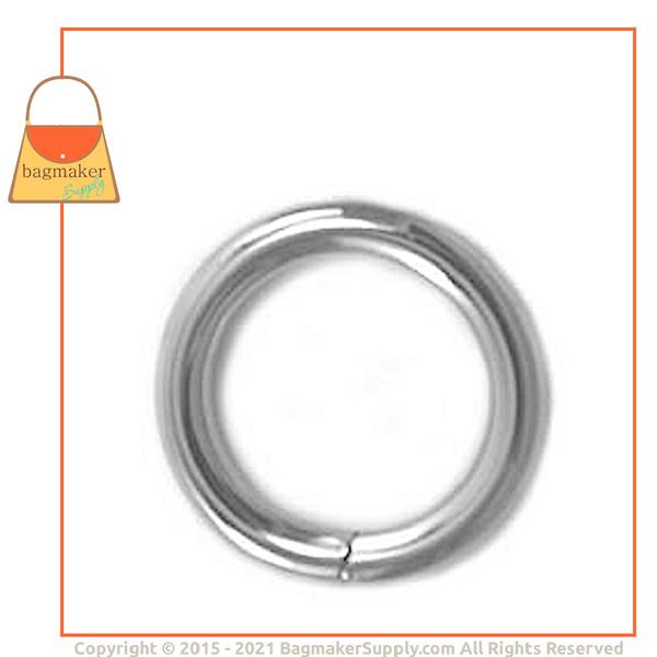 Representative Image of 1/2 Inch Wire Formed O Ring, 2.75 mm Gauge, Not Welded, Nickel Finish (RNG-AA186))