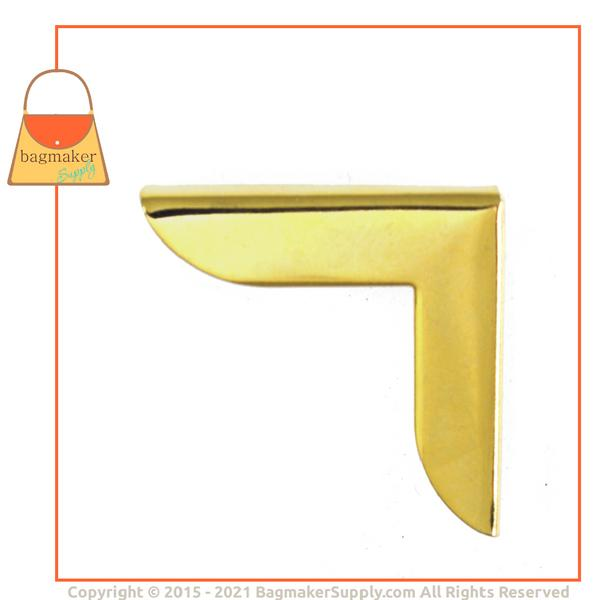 Representative Image of 1-1/4 Inch Purse Flap Corner, Gold Finish (CRN-AA007))