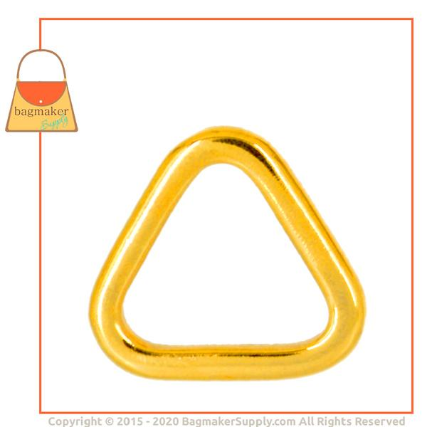 Representative Image of 1 Inch Flat Cast Triangle Ring, Gold Finish (RNG-AA212))
