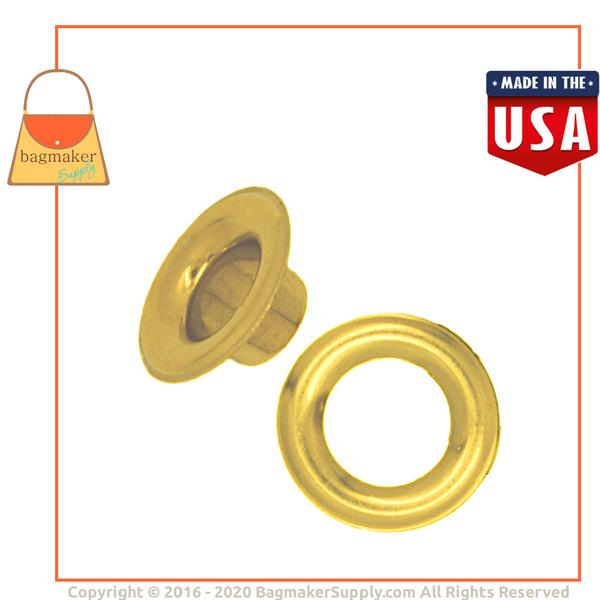 Representative Image of 1/2 Inch Size 4 Grommet, Solid Brass, Brass Finish (EGR-AA050))