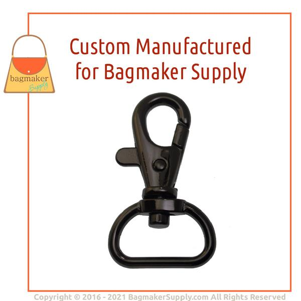 Representative Image of 3/4 Inch Trigger Style Swivel Snap Hook, Black Nickel / Gunmetal Finish (SNP-AA141))