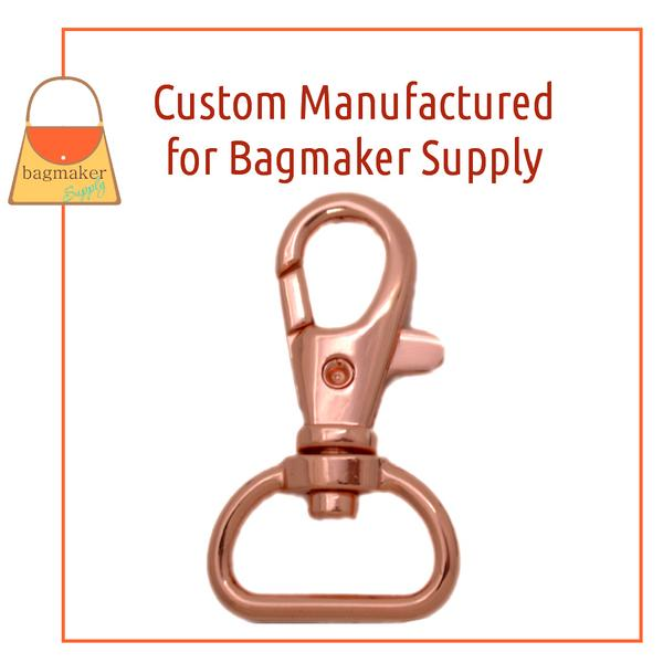 Representative Image of 3/4 Inch Trigger Style Swivel Snap Hook, Rose Gold / Copper Finish (SNP-AA144))
