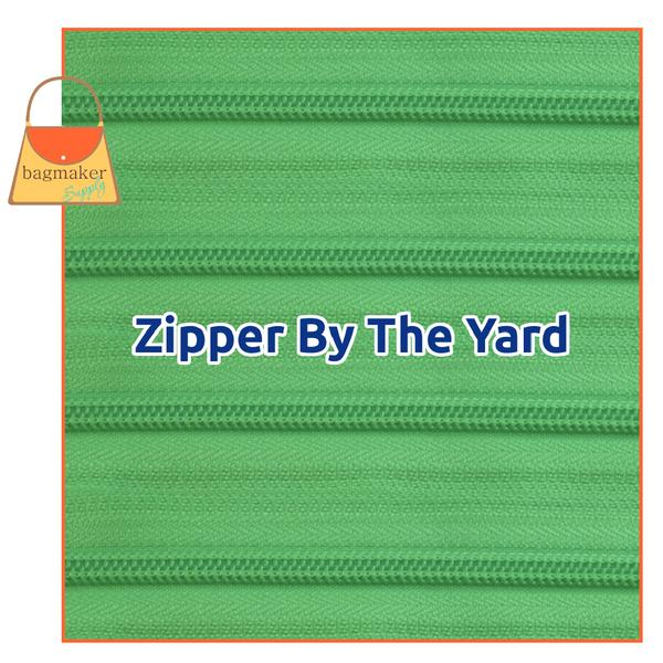 Representative Image of Bright Lime YKK Size 5 Nylon Coil Zipper By The Yard, Color # 536 (ZIP-AA223))